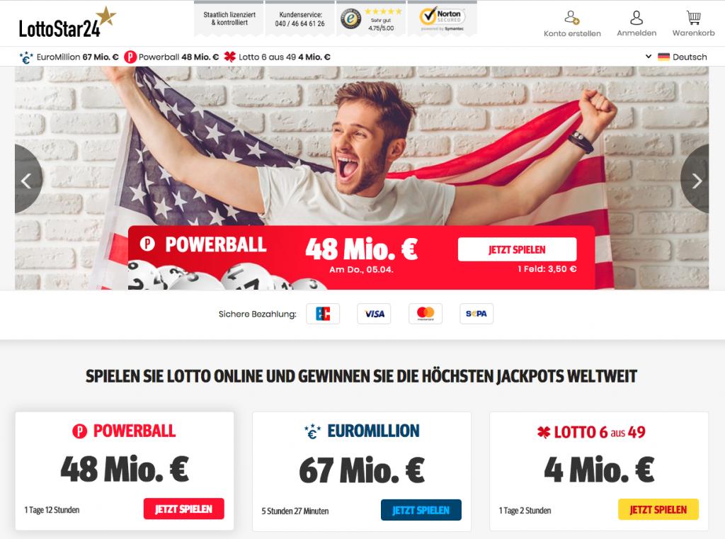 Lottofelder für nur 1 Euro